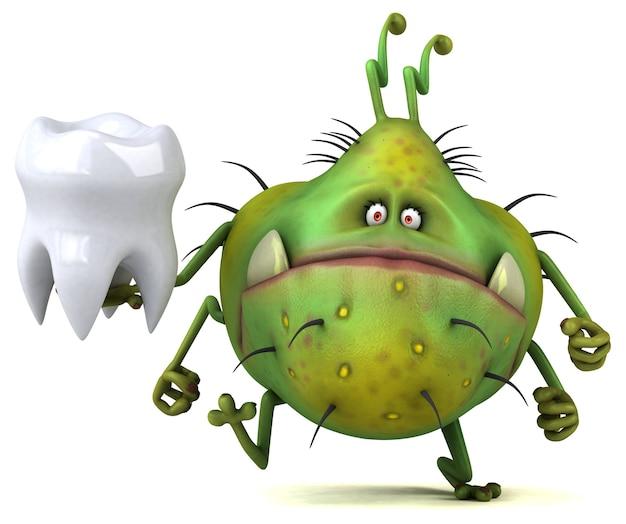 Germe divertente - personaggio 3d