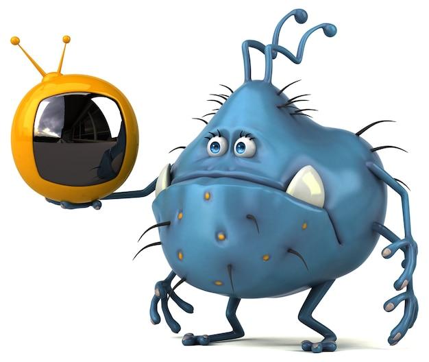 Germe divertente - 3d illustration