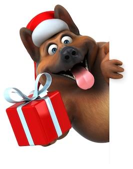 Divertente cane pastore tedesco - illustrazione 3d