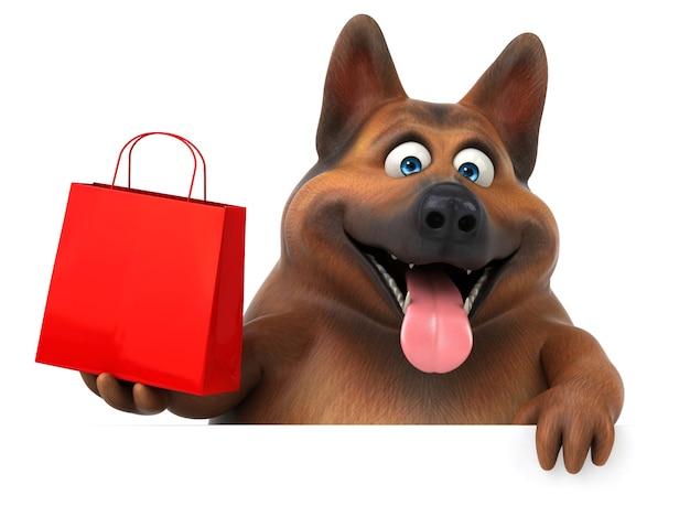 Illustrazione divertente del cane da pastore tedesco