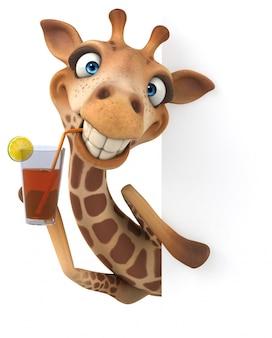 Giraffa divertente