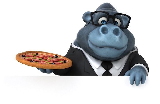 Gorilla divertente - personaggio 3d
