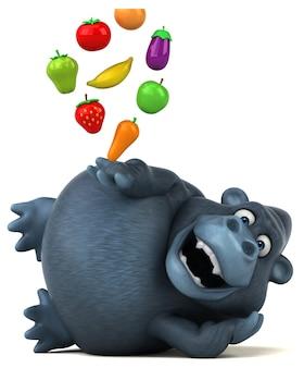 Gorilla divertente - illustrazione 3d