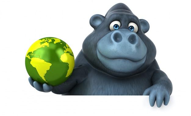 Divertente animazione gorilla