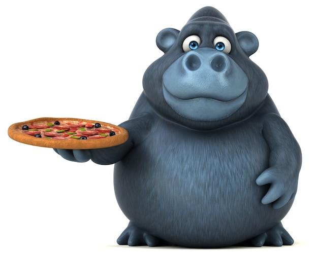 Divertente animazione di gorilla