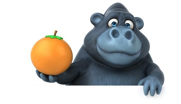 Illustrazione di gorilla divertente