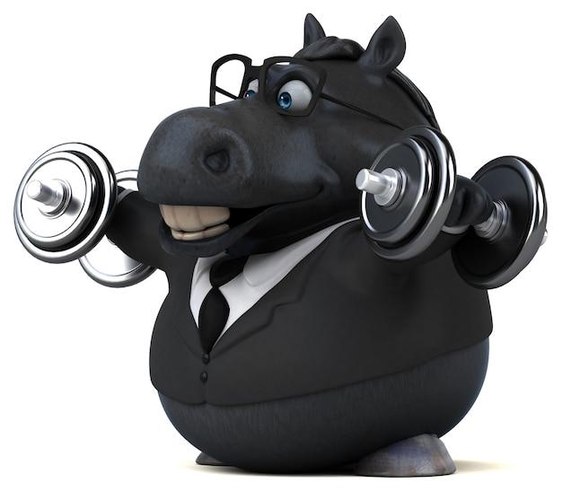 Cavallo divertente - illustrazione 3d