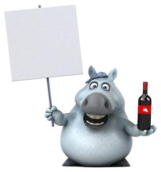 Illustrazione di cavallo divertente