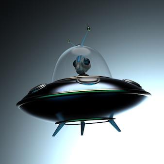 Illustrazione divertente di un alieno