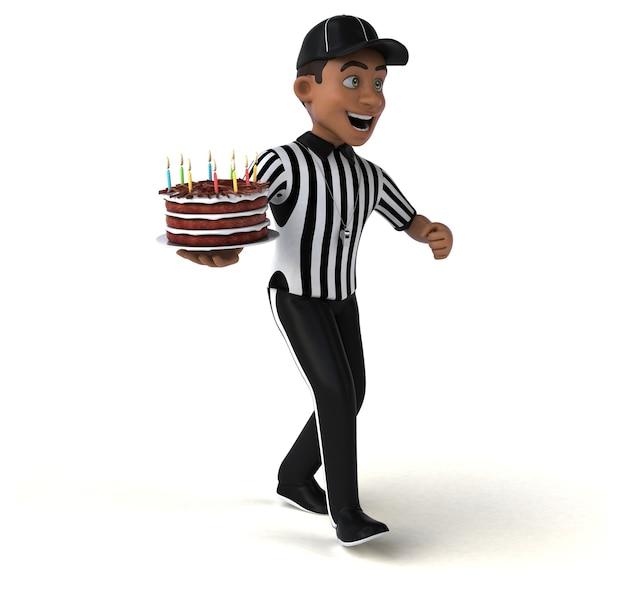 Divertente illustrazione di un arbitro americano