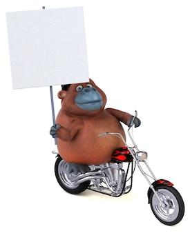 Divertente orang outan - illustrazione 3d
