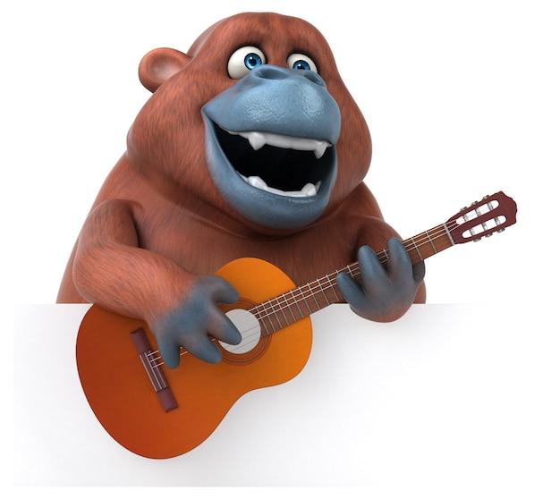 Divertente orango outan - 3d illustration