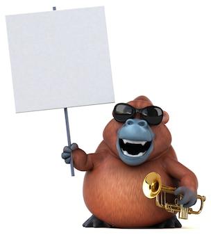 Divertente orango - illustrazione 3d