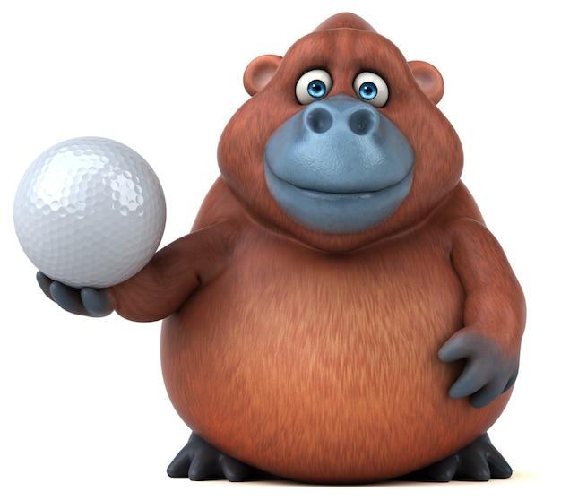 Fun orangoutan - illustrazione 3d