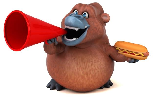 Divertente animazione orangoutan