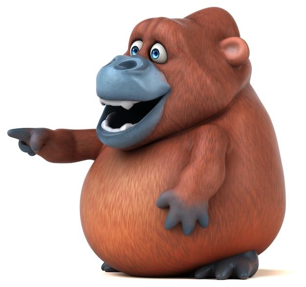 Fun orangutan - illustrazione 3d