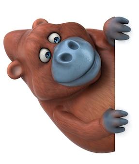 Illustrazione divertente dell'orangutan