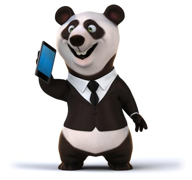 Fun panda - illustrazione 3d