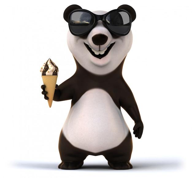 Divertente animazione panda