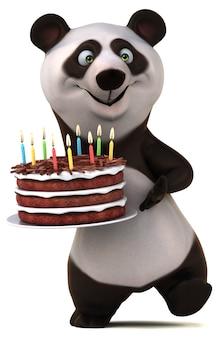 Illustrazione di panda divertente