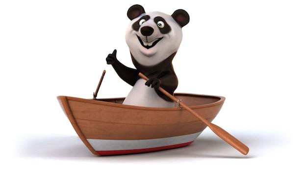 Illustrazione divertente del panda