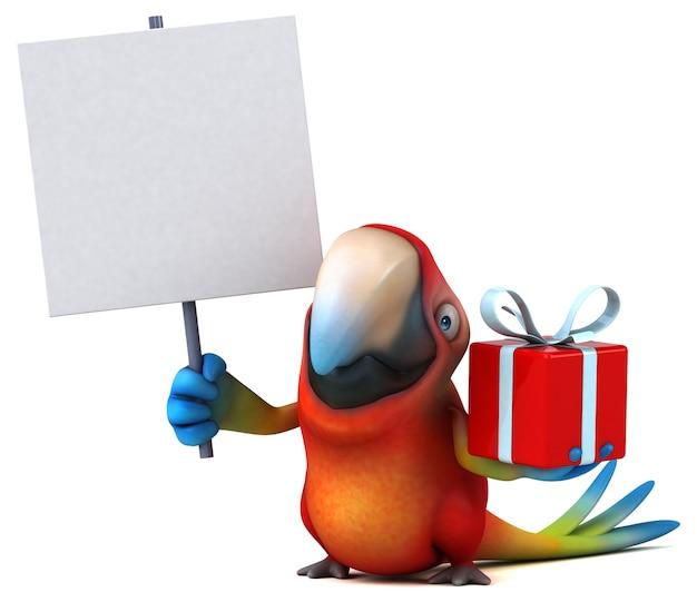 Illustrazione divertente del pappagallo