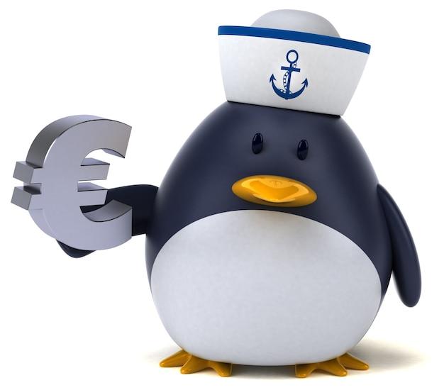 Pinguino divertente - illustrazione 3d