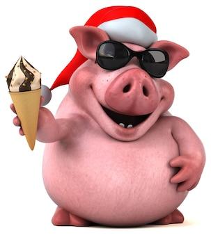 Divertente animazione di maiale