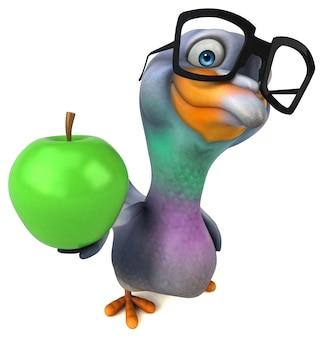 Illustrazione divertente del piccione