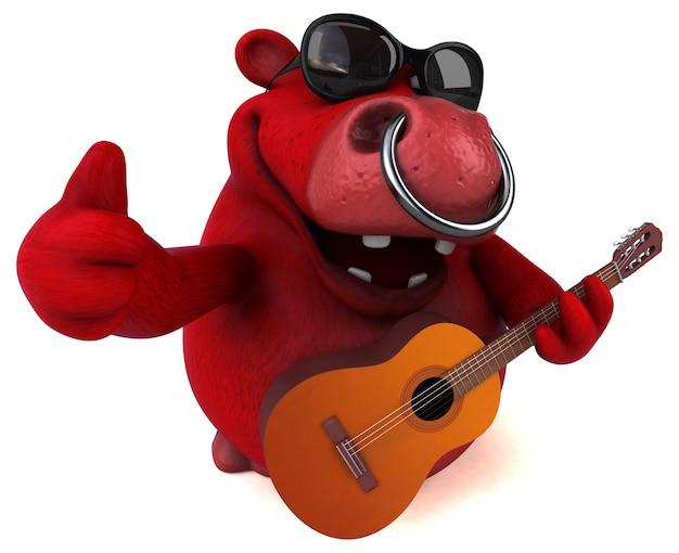 Divertente animazione toro rosso