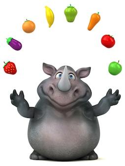 Divertente animazione di rinoceronti