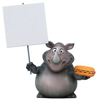 Divertente animazione di rinoceronte