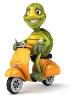Illustrazione divertente del carattere 3d della tartaruga