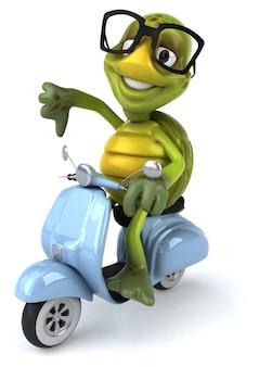 Illustrazione divertente della tartaruga