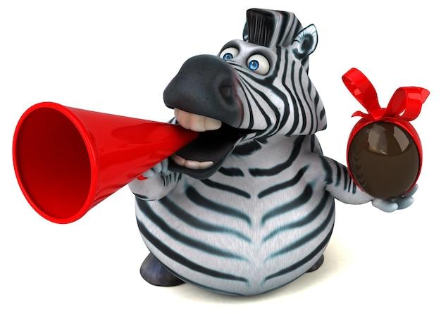Divertente zebra - illustrazione 3d