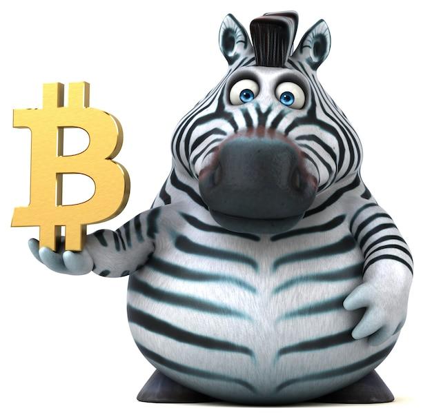 Zebra divertente - illustrazione 3d
