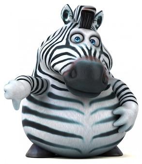 Divertente animazione zebra