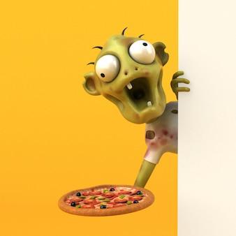 Zombie divertente - personaggio 3d