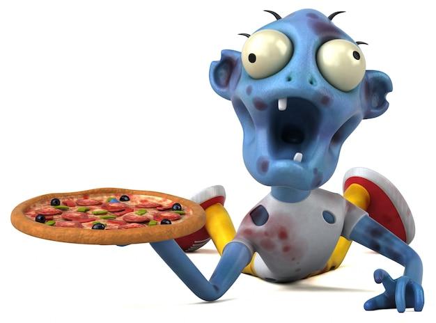 Zombie divertente - illustrazione 3d Foto Premium