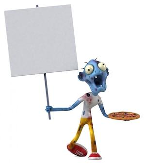 Zombie divertente - illustrazione 3d