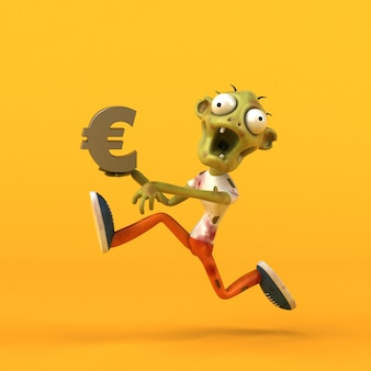 Divertente zombie 3d illustrazione