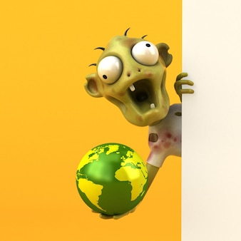 Fun zombie - illustrazione 3d