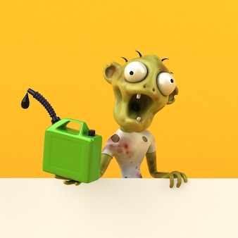 Divertente illustrazione di zombie