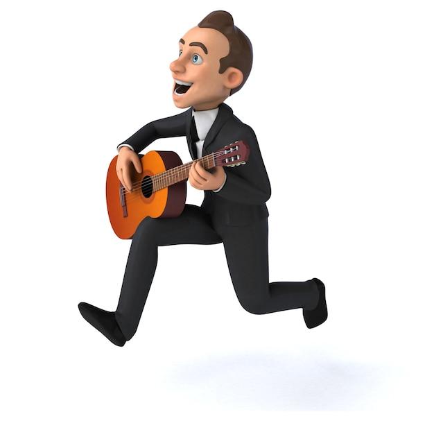 Illustrazione 3d dell'uomo d'affari divertente