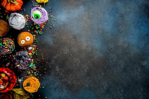 Cupcakes divertenti per bambini per halloween