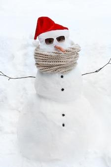 Pupazzo di neve divertente