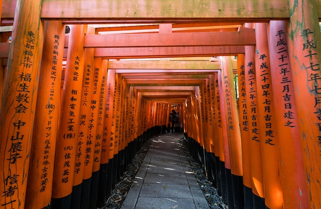 Fushimi inari taisha a kyoto giappone