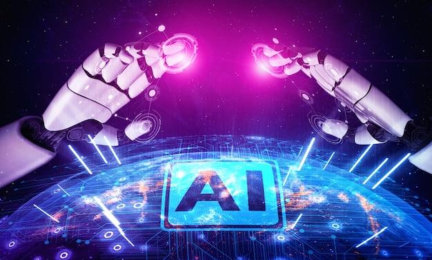 Robot e cyborg futuri di intelligenza artificiale