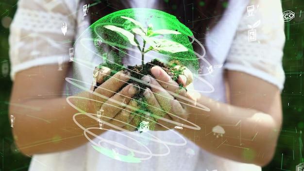 Conservazione ambientale futura e sviluppo sostenibile della modernizzazione esg