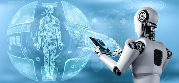 Futura tecnologia medica controllata da robot ai utilizzando l'apprendimento automatico